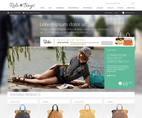 Шаблон OT Fashionbag для Joomla 2.5