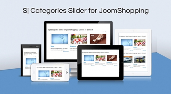 Модуль SJ Categories Slider for JoomShopping для Joomla 2.5/3.0