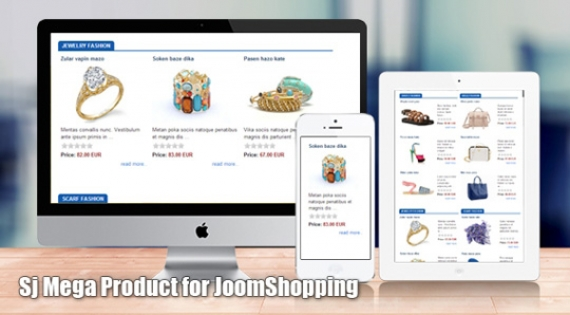 Модуль SJ Mega Product for JoomShopping для Joomla 2.5/3.0