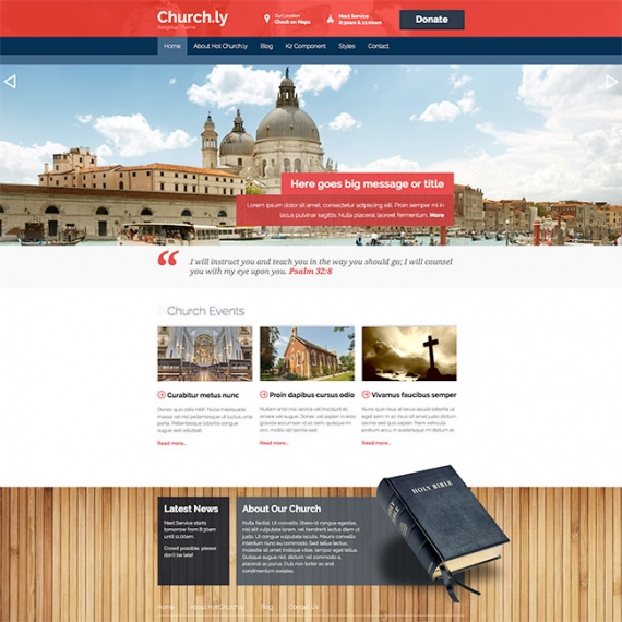 Шаблон HOT Churchly для Joomla 2.5/3.0