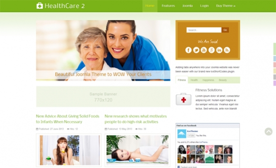 Шаблон IT HealthCare 2 для Joomla 2.5/3.0