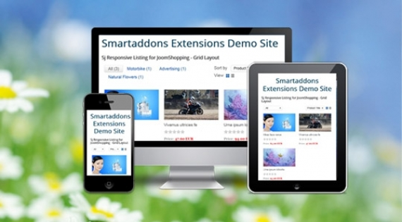 Модуль SJ Responsive Listing for JoomShopping для Joomla 2.5/3.0