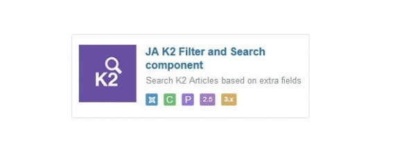 Модуль JA K2 Filter and Search для Joomla 2.5/3.0